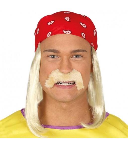 Peluca con Bigote Hulk Hogan