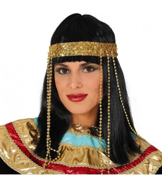 Peluca Egipcia con diadema