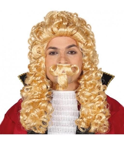 Peluca Marques Época con bigote