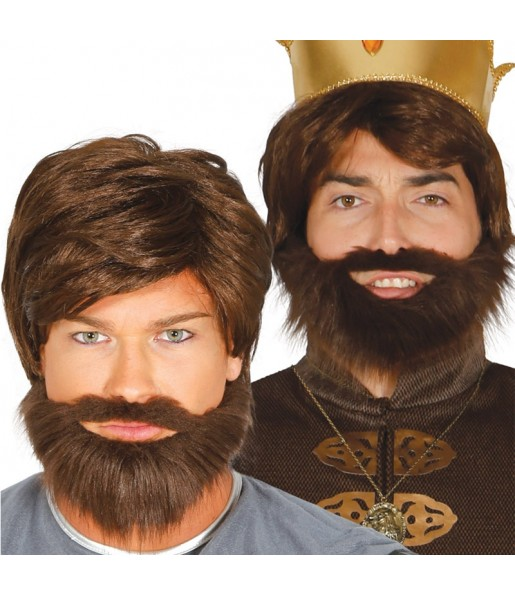 Peluca Medieval con barba