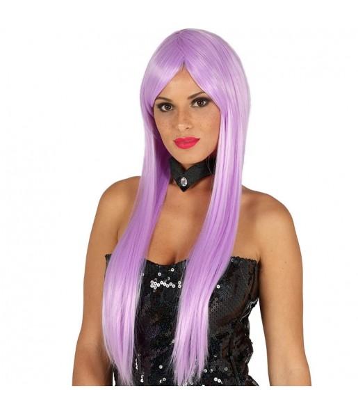 Peluca Melena Lisa violeta