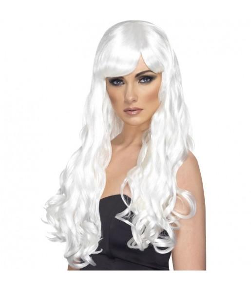 Peluca ondulada Blanca