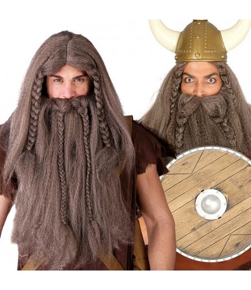 Peluca Vikingo con barba