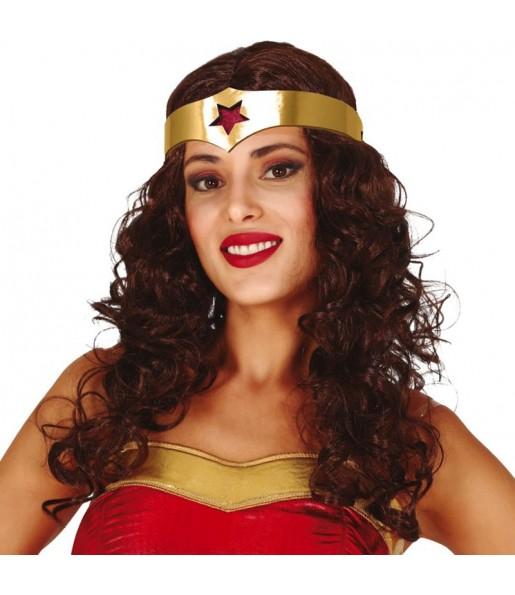 Peluca Wonder Woman con diadema