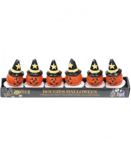 Velas calabaza Halloween Blíster 6 uds