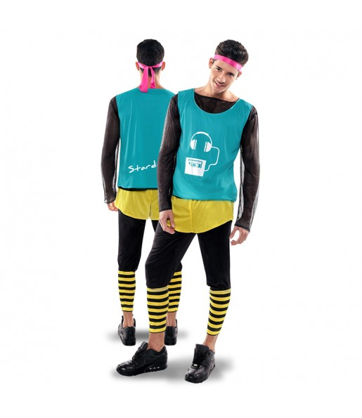 disfraz stardance verde años 80 hombre adulto