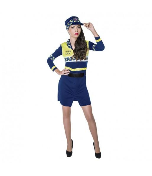 disfraz policía local mujer adulto