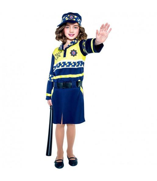 disfraz policía local niña infantil