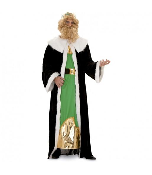 Disfraz de Rey Mago Gaspar Dorado adulto