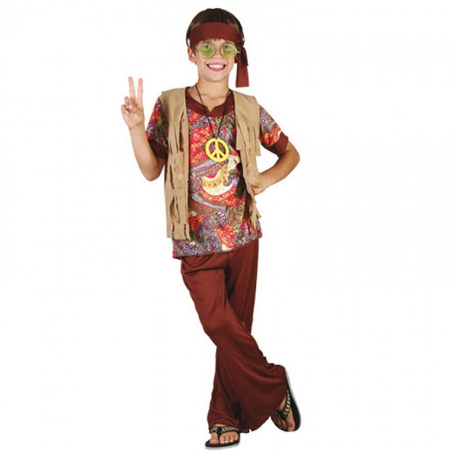 6fb1aa66c Disfraz de Hippie Estampado para niño