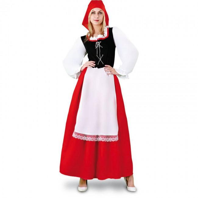 Disfraz de aldeana con delantal para mujer env o en 24h - Disfraz navideno nina ...