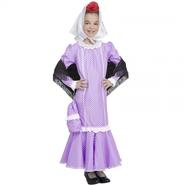 7506a4a2dc ▷ Disfraz Chulapa lila Madrileña para Niña