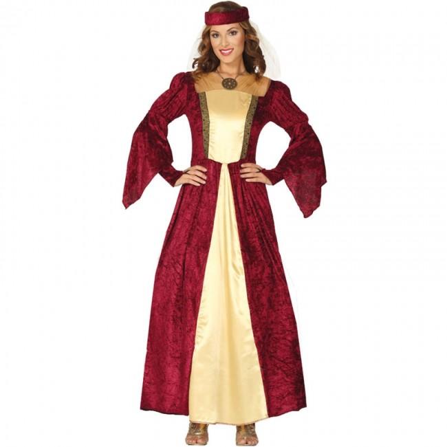 4eac6b94d Disfraz de Dama Medieval Elegante para mujer