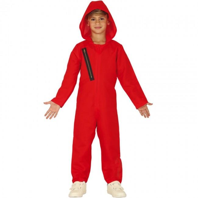 Disfraz Mono Rojo De Ladrón Para Niño Envío En 24h
