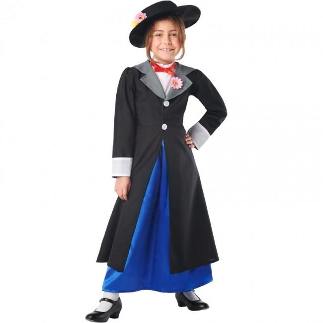 Disfraz Mary Poppins Deluxe Para Niña Envío En 24h