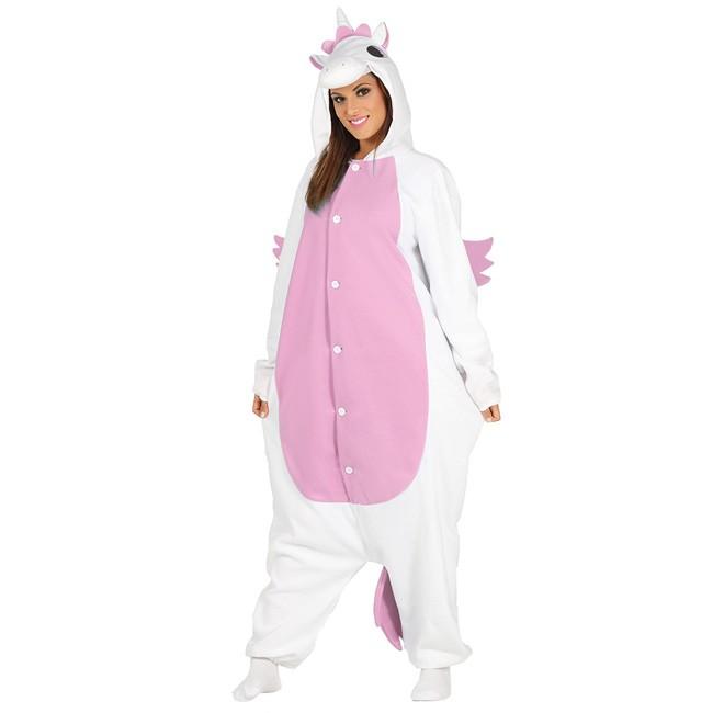 9734df6c9aa1 Disfraz Unicornio Rosa Kigurumi adulto - Pijamas onesie en 24h