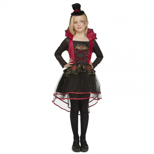 9abc49cc4 Disfraz de Vampiresa Roja elegante para niña