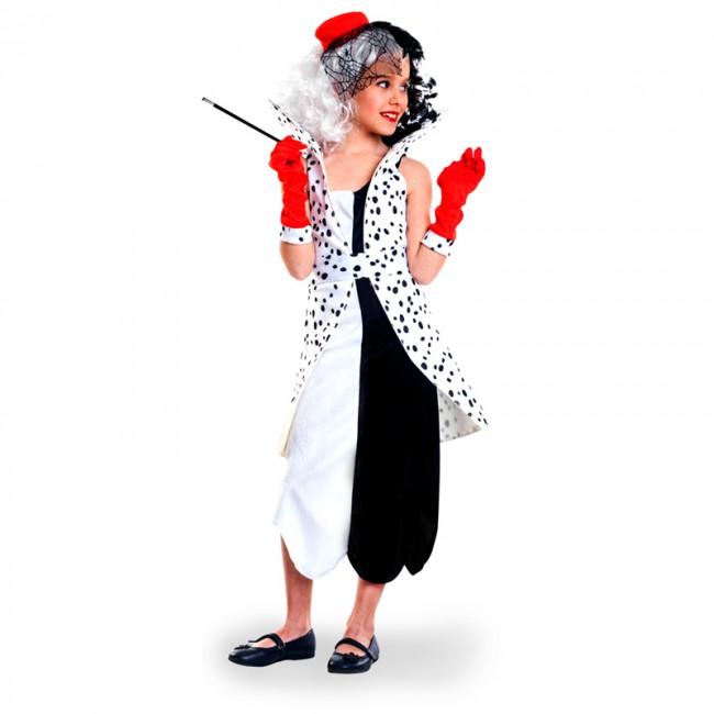 b6aa83fc8 Disfraz de Villana Cruella de Vil para niña
