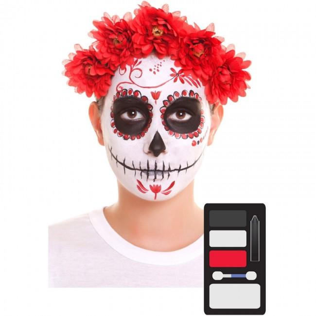 Kit Maquillaje De Catrina Halloween
