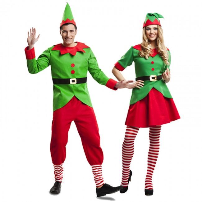 Disfraz de pareja elfos navidad santa claus para adulto - Disfraz navideno nina ...