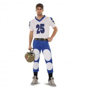 Disfraz de Jugador de Rugby Azul