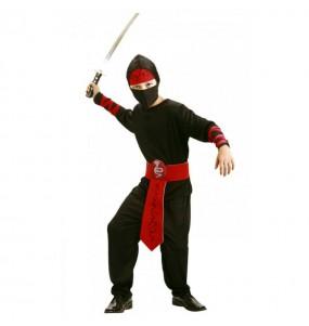 Disfraz de Ninja Negro y Rojo