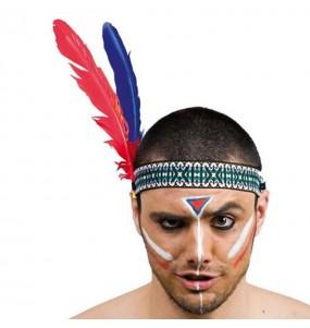 Vincha de indio con plumas