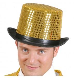 Sombrero lentejuelas oro