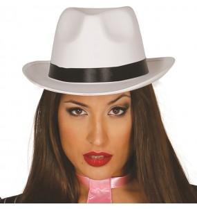 Sombrero Gánster Blanco Lujo