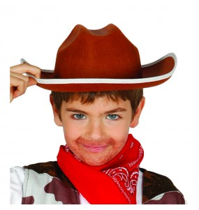sombrero de vaquero infantil marrón