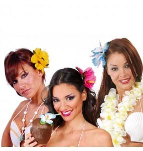Flor hawaiana con pinza
