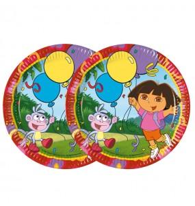 Platos de Dora la Exploradora de 23 cm