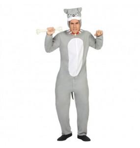 disfraz perro bulldog gris adulto