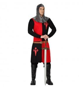 Disfraz de Caballero Medieval rojo negro