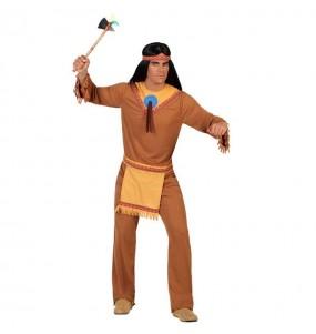 Disfraz de Indio Marrón hombre oeste