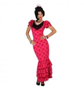 Disfraz de Sevillana Rosa flamenca
