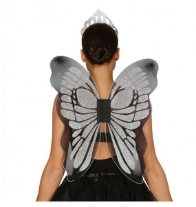 alas plateadas mariposa