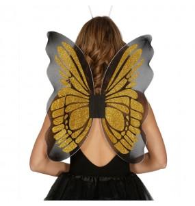 alas doradas mariposa