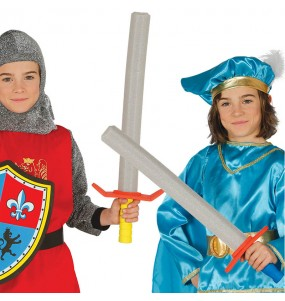Espada Medieval de goma EVA para niños