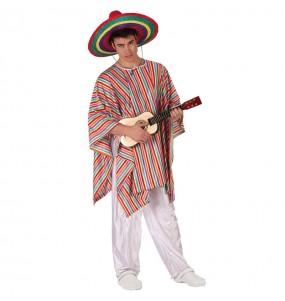 Disfraz de Mejicano con Poncho adulto