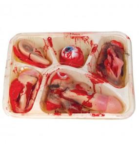 Bandeja con órganos humanos