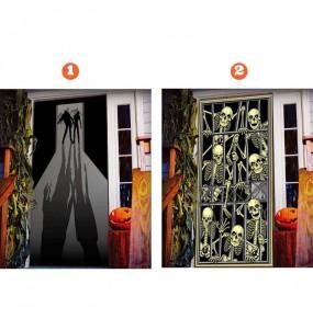 Decoración Puerta Halloween terror
