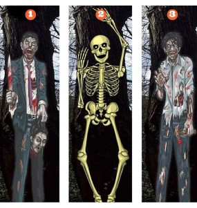 Cartel Zombi Pared Halloween