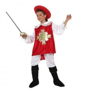 Disfraz de Mosquetero Rojo niño