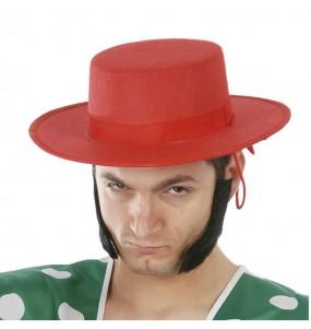 Sombrero Cordobés Fieltro rojo