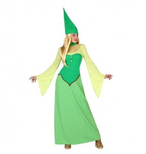 Disfraz de Duende Verde Irlandesa mujer leprechaun