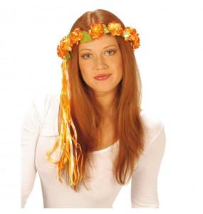 Diadema de Flores naranjas