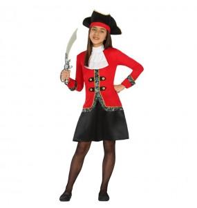 Disfraz de Capitana Garfio infantil