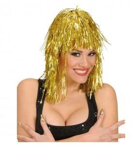 Peluca Metalizada Oro