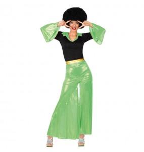 Disfraz de Disco Verde Chica